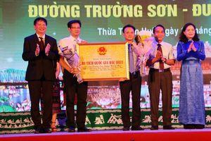 Đường Trường Sơn - Đường Hồ Chí Minh được xếp hạng Di tích cấp Quốc gia đặc biệt