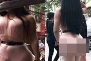 Bức ảnh cô gái siêu vòng 3 xuất hiện trên phố Hà Nội khiến nhiều người đau đầu đoán 'hàng thật' hay 'hàng độn'