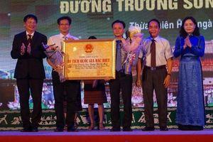 Đường Trường Sơn - đường Hồ Chí Minh thành Di tích Quốc gia đặc biệt