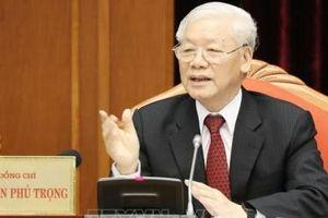 Tổng Bí thư Nguyễn Phú Trọng chủ trì Hội nghị lần thứ 10 Ban Chấp hành Trung ương Đảng khóa XII