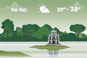 Thời tiết ngày 17/5: Hà Nội nắng nóng 38 độ C, Sài Gòn mưa rào