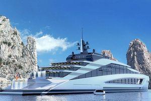 Siêu du thuyền 500 triệu USD chứa thác nước và hồ sóng nhân tạo