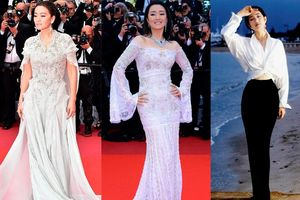 Không cần chiêu trò, Củng Lợi vẫn tỏa sáng suốt 31 năm trên thảm đỏ Cannes