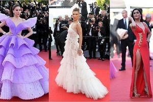Cannes ngày 3: Bella Hadid diện váy xuyên thấu quyến rũ, 'thống trị' thảm đỏ