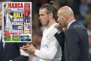 Gareth Bale xin Zidane đá trận cuối chia tay Real Madrid