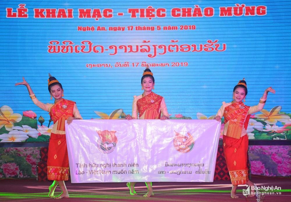 Khai mạc Gặp gỡ hữu nghị thanh niên Việt Nam - Lào 2019 tại Nghệ An