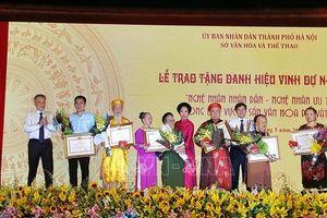 Hà Nội vinh danh 44 Nghệ nhân Nhân dân, Nghệ nhân Ưu tú