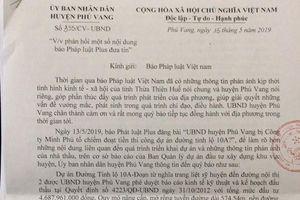 UBND huyện Phú Vang lên tiếng sau khi bị 'tố' chiếm đoạt tiền thi công dự án tỉnh lộ 10A