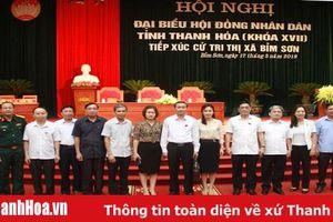 Đại biểu HĐND tỉnh tiếp xúc cử tri thị xã Bỉm Sơn