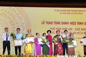Hà Nội vinh danh nghệ nhân nhân dân, nghệ nhân ưu tú lần thứ hai 2019