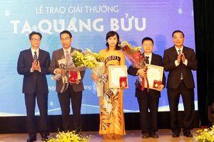 Giải thưởng Tạ Quang Bửu vinh danh 3 nhà khoa học