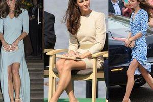Những khoảnh khắc cho thấy hóa ra Công nương Kate đã nhiều lần khoe khéo đôi chân nuột nà không tỳ vết của mình, được em chồng Harry khen ngợi là 'vũ khí chết người'