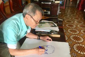 Người cựu chiến binh say mê vẽ chân dung Bác Hồ