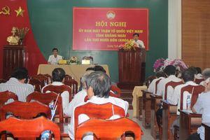'Chốt' nhân sự Ủy ban MTTQ Việt Nam tỉnh Quảng Ngãi