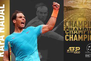 Nadal lập kỷ lục mới 34 lần vô địch Masters