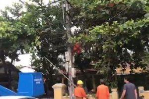 Sửa chữa điện tại trường mầm non, một công nhân điện lực tử vong