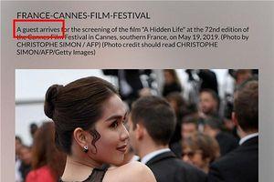 Báo chí quốc tế nói gì về màn hở bạo của Ngọc Trinh trên thảm đỏ Cannes?