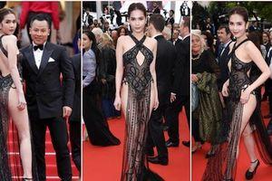 Ngọc Trinh diện váy khoe thân lố lăng gây tranh cãi ở LHP Cannes