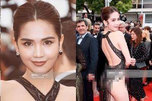 Ngọc Trinh 'mặc như không' lên báo Quốc tế, gây tranh cãi khi xuất hiện ở LHP Cannes
