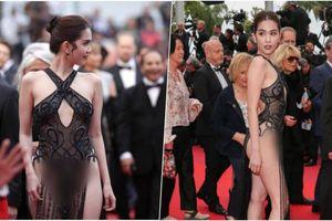 Đến Cannes ngày đầu đã lộ vòng 1, Ngọc Trinh lộ tiếp cả vòng 3 trong bộ đầm mỏng tang khác gì nội y