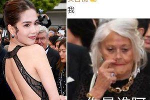 Dân mạng Trung Quốc thở dài ngán ngẩm với thời trang 'mặc như khỏa thân' của Ngọc Trinh trên thảm đỏ Cannes