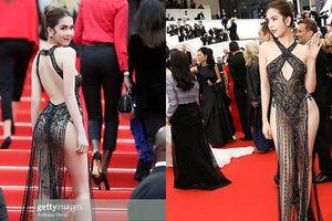Ngọc Trinh mặc phản cảm trên thảm đỏ LHP Cannes