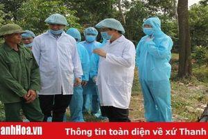 Chủ tịch UBND tỉnh kiểm tra, chỉ đạo công tác phòng, chống bệnh dịch tả lợn châu Phi tại huyện Quảng Xương