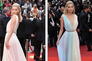 Thiên thần nội y Elsa Hosk hóa công chúa lộng lẫy trên thảm đỏ Cannes