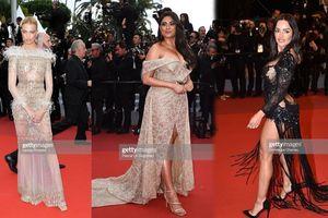 Thảm đỏ Cannes ngày 7: Sao Pháp lộ nội y, khách mời vô danh gây sốc