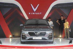 Xe VinFast góp mặt tại triển lãm tôn vinh hàng Việt Nam