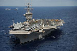 Siêu tàu sân bay Mỹ mang theo 90 máy bay từng tham gia đột kích thất bại vào Iran