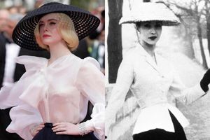 Elle Fanning tái hiện hình ảnh huyền thoại của Dior ở thảm đỏ Cannes