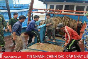Bắt 2 tàu giã cào khai thác hải sản trái phép trên vùng biển Hà Tĩnh