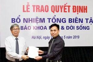 Nhà báo Đặng Vương Hạnh làm Tổng biên tập Báo Khoa học & Đời sống