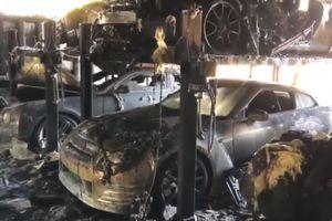Cháy gara, nhiều xe sang Bentley, Porsche bị thiêu rụi