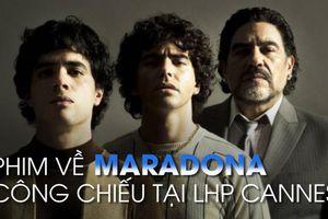 Vì chấn thương, Maradona vắng mặt tại buổi công phiếu phim về chính mình tại LHP Cannes