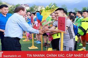 Cán bộ, công nhân Formosa Hà Tĩnh tranh tài bóng đá