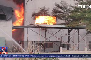 Vụ cháy tại KCN ở Bình Dương thiệt hại 30 tỉ đồng