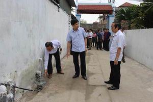 Vĩnh Phúc: TP Vĩnh Yên học tập kinh nghiệm xây dựng hệ thống thu gom nước thải ở Vĩnh Tường