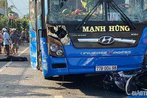 Tai nạn liên hoàn giữa hai ô tô khách và xe máy, người phụ nữ chết thảm