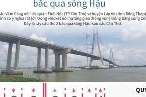 Cầu Vàm Cống bắc qua sông Hậu nối Cần Thơ - Đồng Tháp