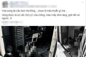 Thực hư thông tin người đàn ông nằm trên vũng máu do bị vợ cắt 'của quý' ở Hà Nội