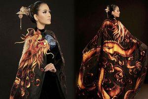 Cận cảnh bộ áo dài giúp Trương Thị May gây ấn tượng sau màn xuất hiện 'phô phang' của Ngọc Trinh tại Cannes 2019