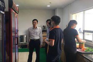 Bắc Ninh: Thẩm định điều kiện ATTP tại căng tin nhà máy Canon Quế Võ