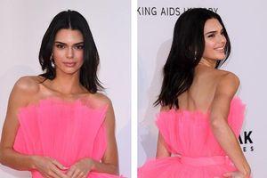 'Chân dài' Kendall Jenner khoe dáng nuột nà với đầm hồng rực rỡ
