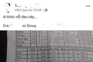 Nam sinh lớp 10 đạt điểm tổng kết 8,6 vẫn xếp hạng 28