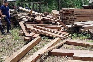 Điểm chứa gỗ 'lậu' ngay trong phòng làm việc của ủy ban xã