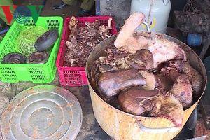 Hậu Giang phát hiện gần 1,5 tấn thịt lợn bốc mùi hôi thối