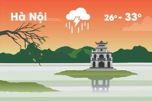 Thời tiết ngày 27/5: Hà Nội giảm nhiệt, miền Bắc mưa lớn diện rộng