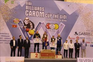Kết thúc giải Billiards carom cúp thế giới Thành phố Hồ Chí Minh 2019